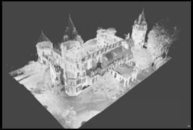 Reconstitution d'un château au laser
